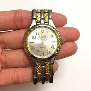 Geneva Quartz two-Tone Stainless Steel Watch